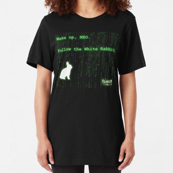 Despierta, Neo, Sigue al Conejo Blanco Camiseta ajustada