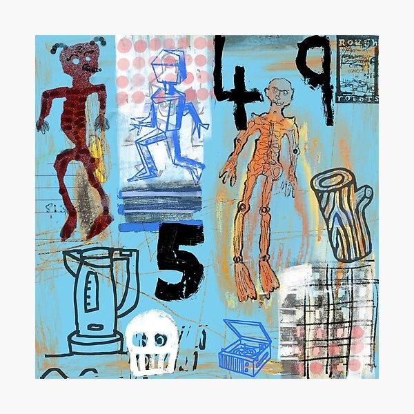 Aliens, Skull, Robot, & Record Player Photographic Print