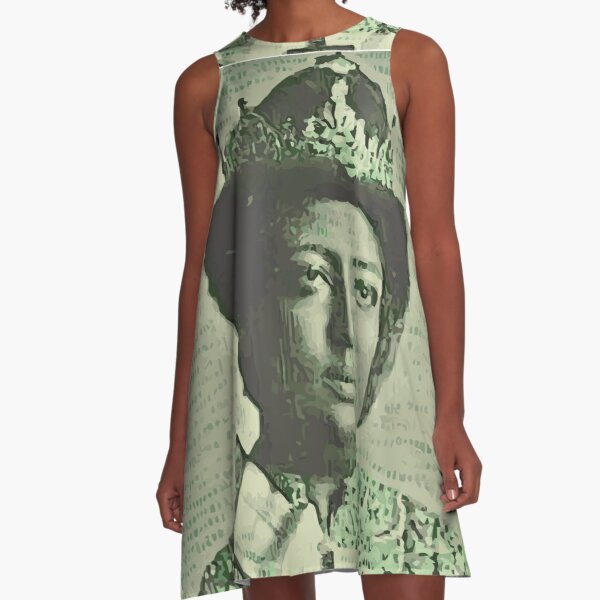Empress Menen Wife of Emperor Haile Selassie Ethiopia A-Line Dress
