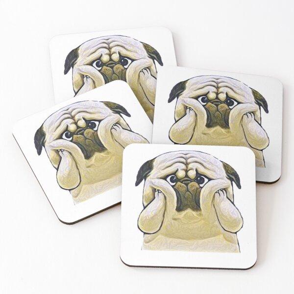 Pug dog  Coasters (Set of 4)