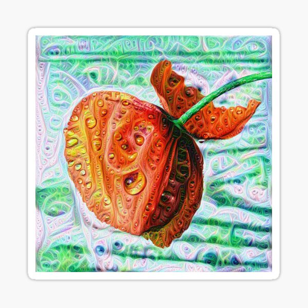 #DeepDreamed Flower 5x5K v1449147619 Sticker
