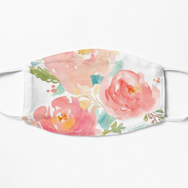Peonies Watercolor Bouquet Flat Mask