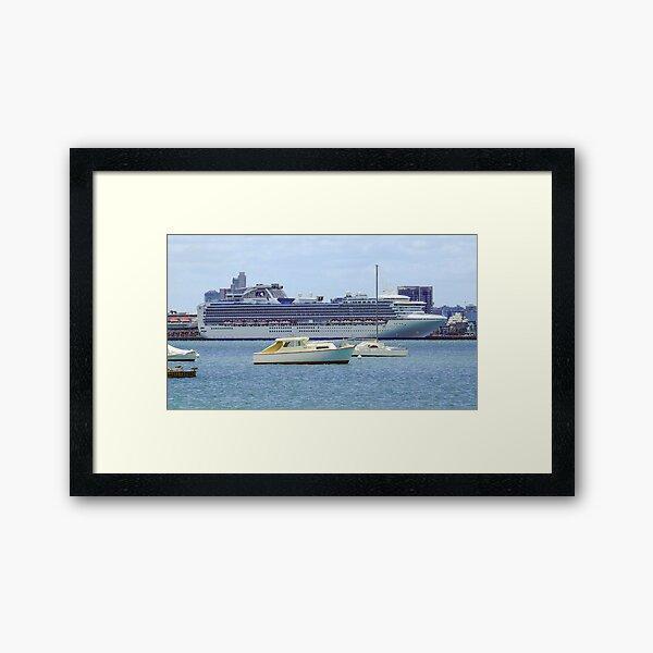 Princess Cruises at South Melbourne Framed Art Print