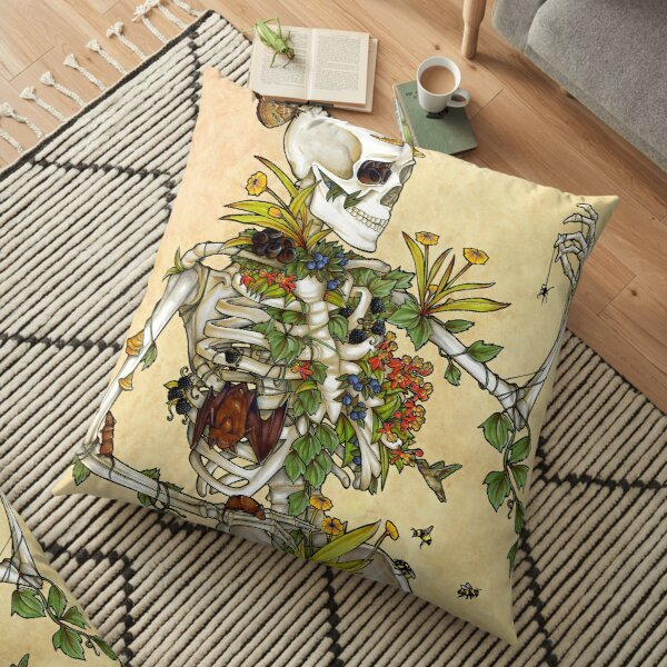 Bones and Botany Floor Pillow