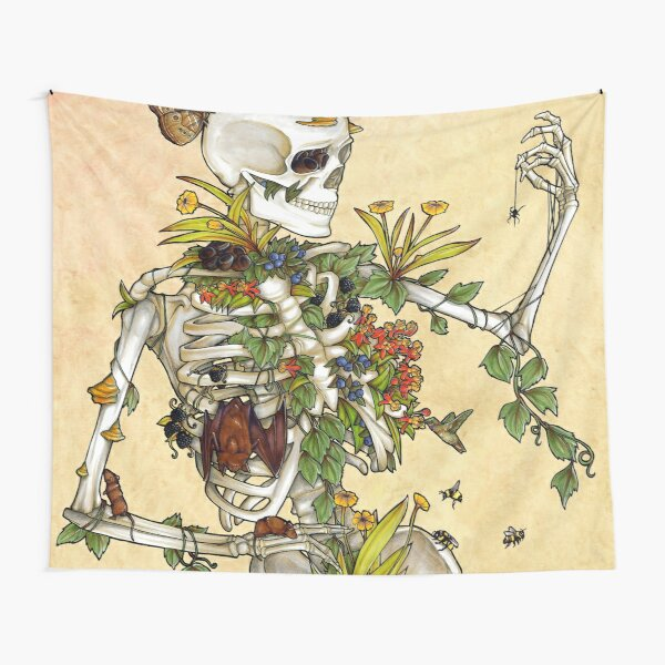 Bones and Botany Tapestry