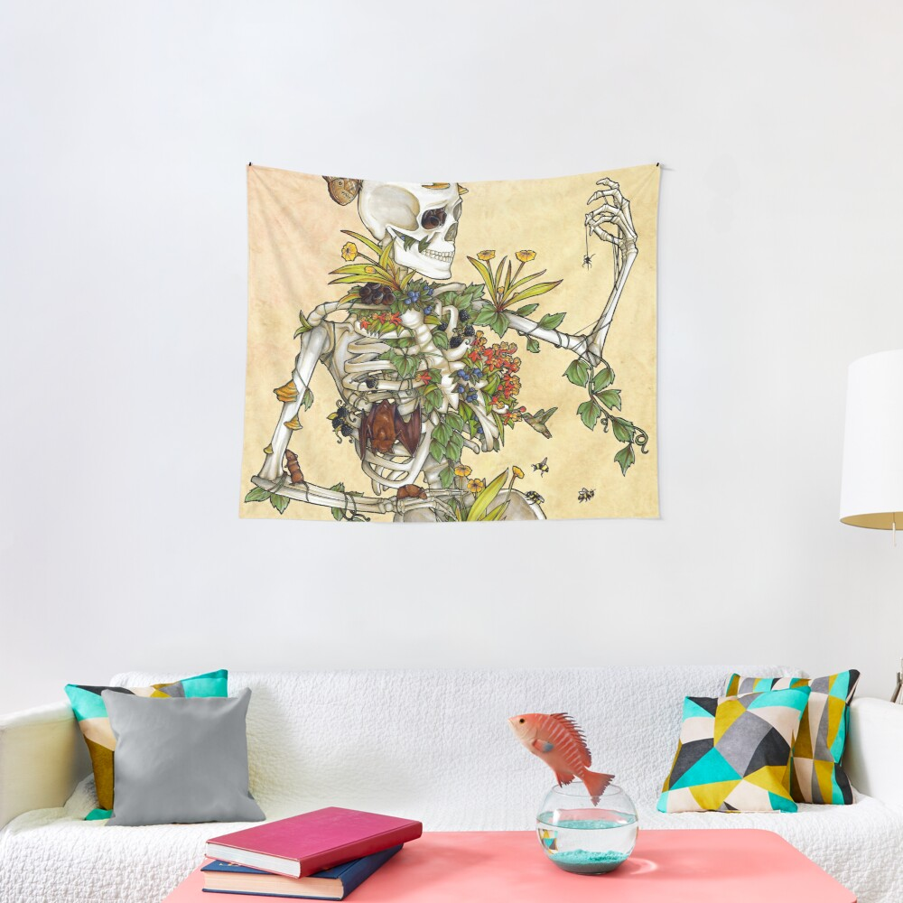 Bones and Botany Tapestry