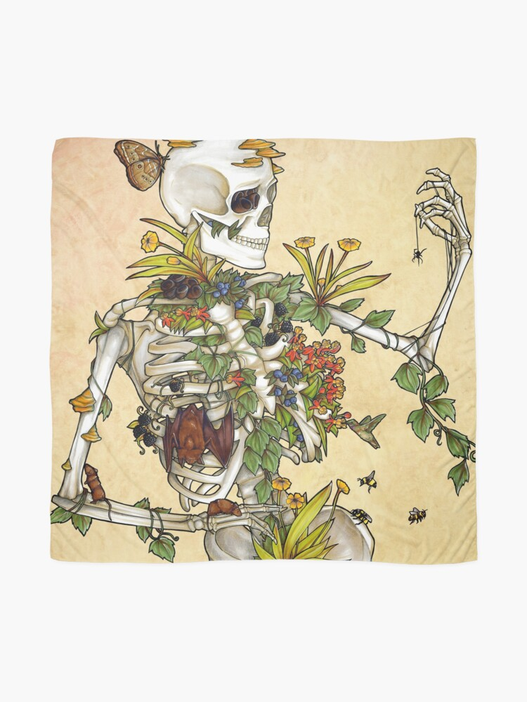 Alternate view of Bones and Botany Scarf