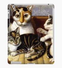 Naive Cat Painting iPad Case/Skin