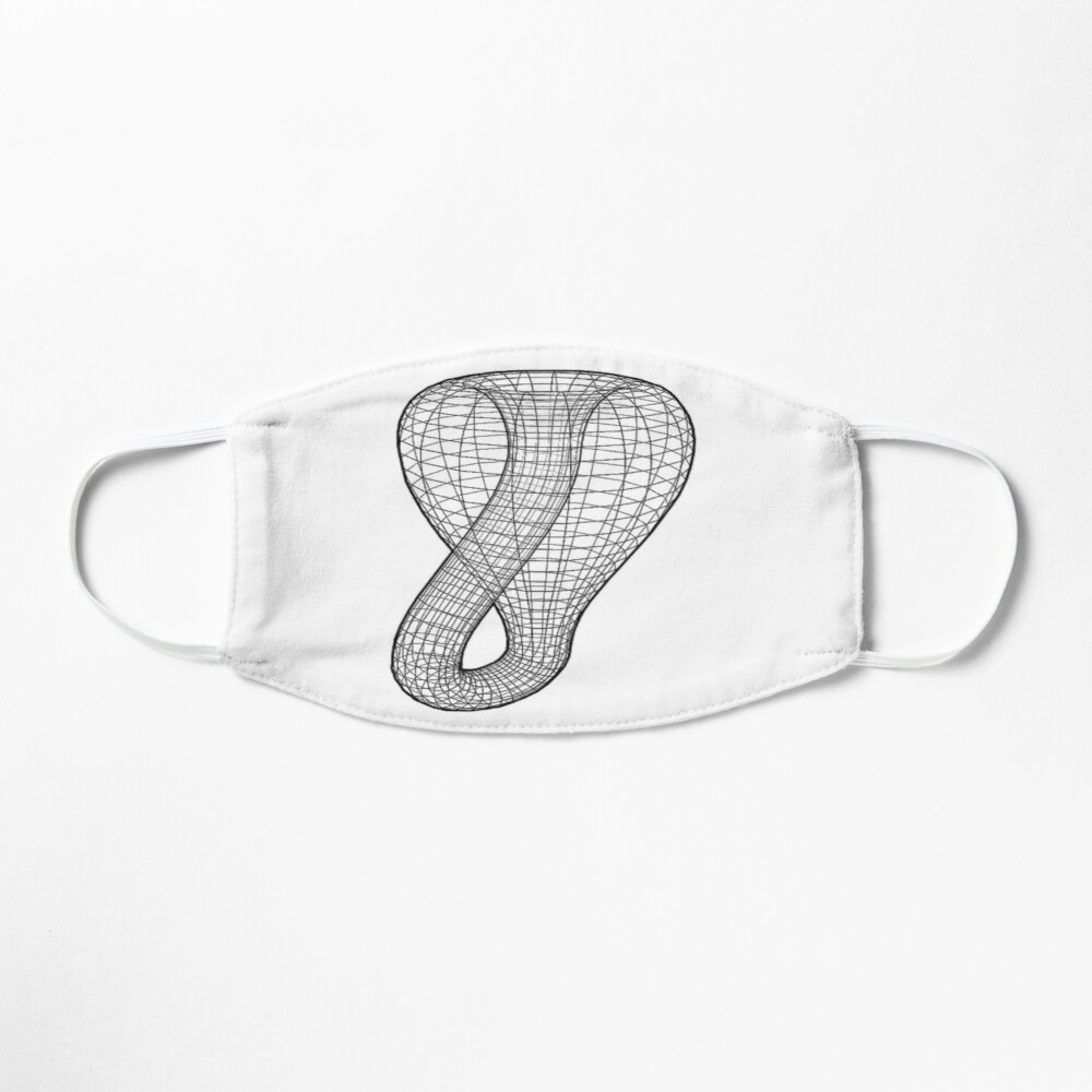 A two-dimensional representation of the Klein bottle immersed in three-dimensional space, #TwoDimensional, #representation, #KleinBottle, #immersed, #ThreeDimensional, #space Mask