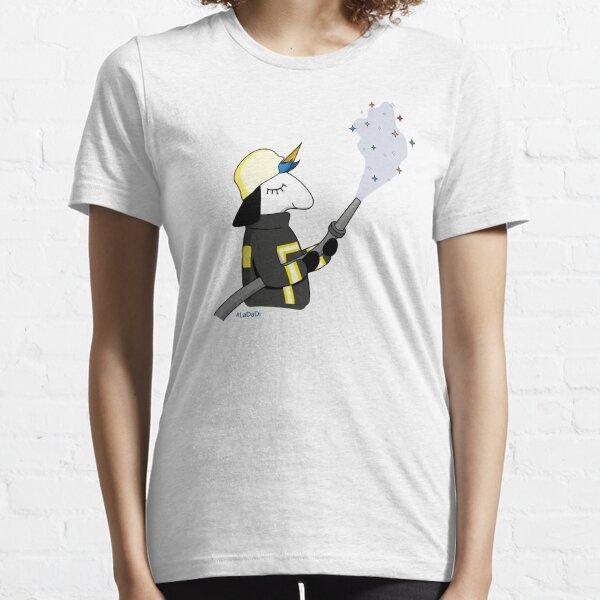 fire fighter unicorn Essential T-Shirt