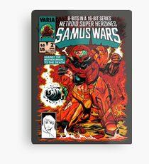 Samus Wars Metal Print
