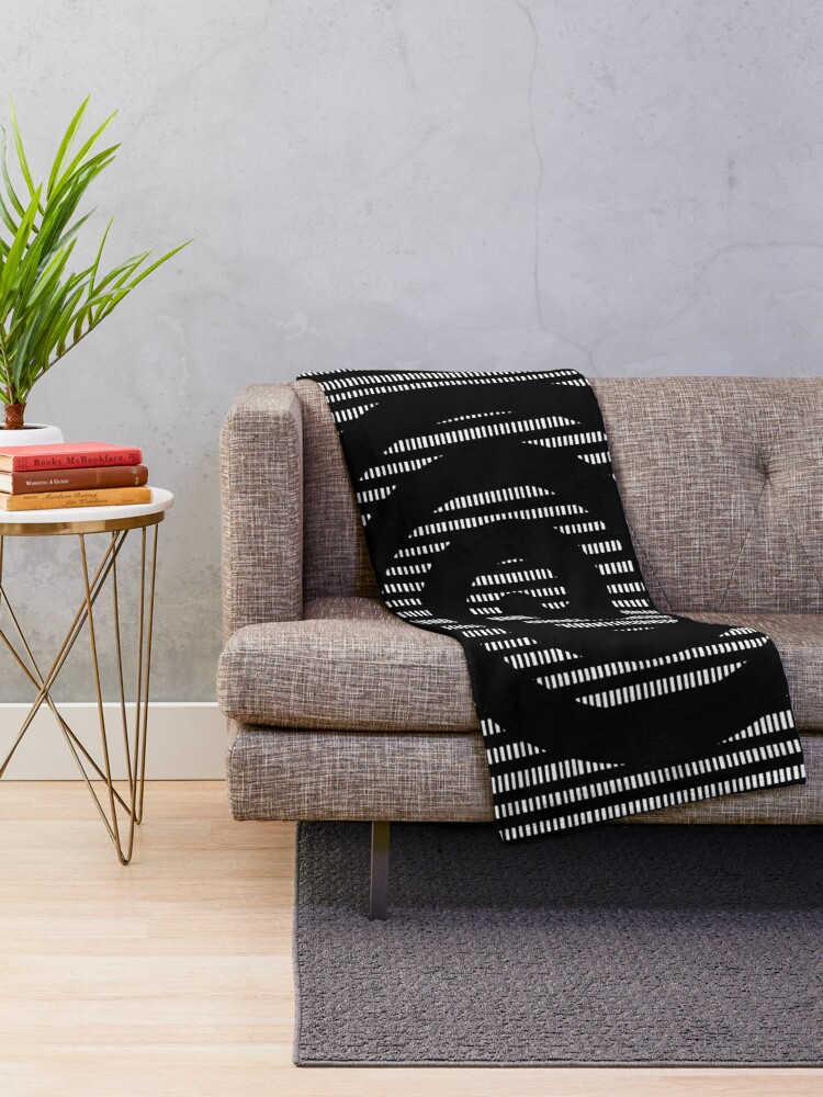 Alternate view of Spiral  Throw Blanket