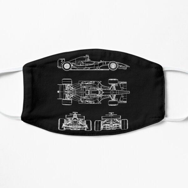 Race car blueprint project Flat Mask