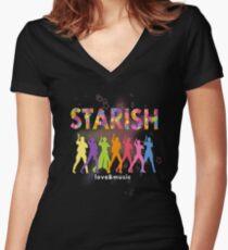 STARISH! (2) Women's Fitted V-Neck T-Shirt