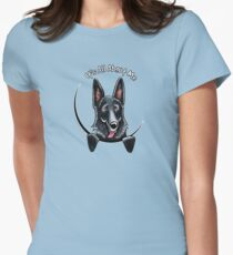 Black German Shepherd :: Its All About Me Womens Fitted T-Shirt