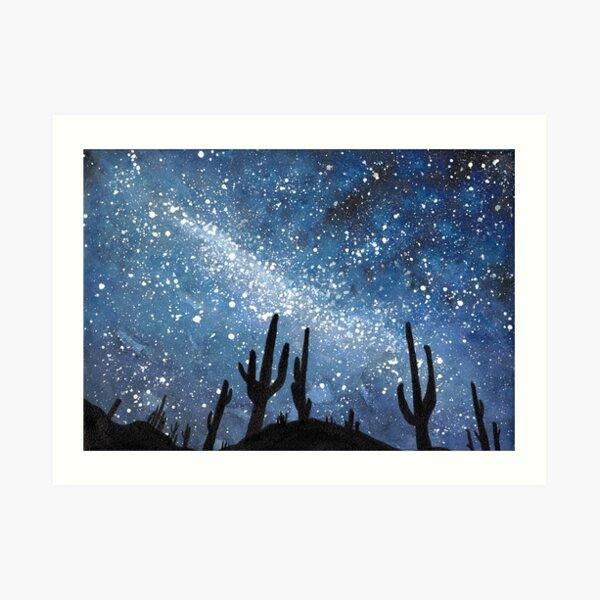 Desert Sky Landscape  Art Print