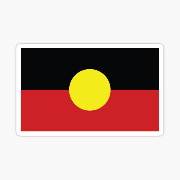 Indigenous Australian flag Sticker