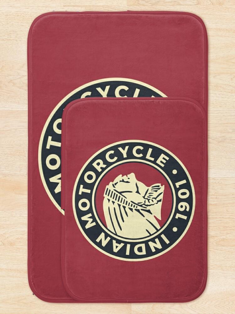 Alternate view of Indian Motorcycle 1901 - Round Custom Logo Bath Mat