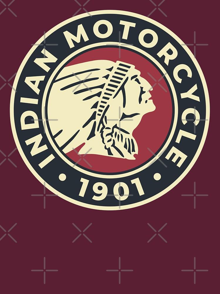 Indian Motorcycle 1901 - Round Custom Logo by mongolife