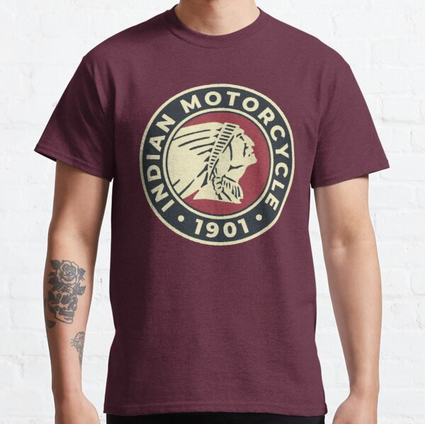 Indian Motorcycle 1901 - Round Custom Logo Classic T-Shirt