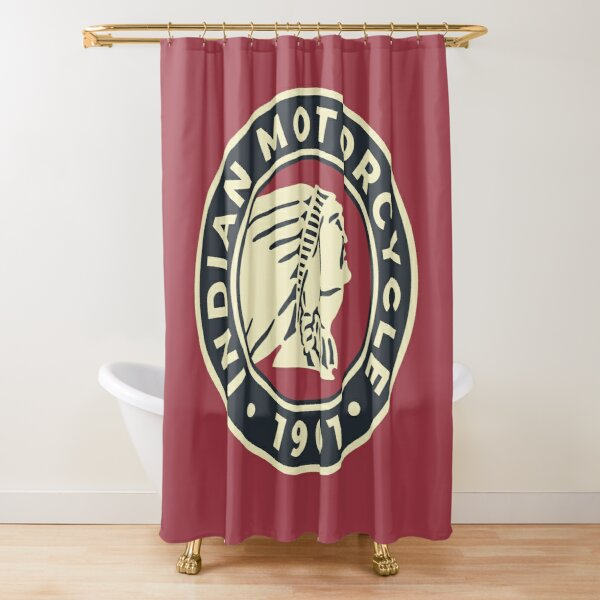 Indian Motorcycle 1901 - Round Custom Logo Shower Curtain