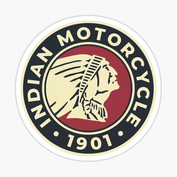 Indian Motorcycle 1901 - Round Custom Logo Sticker