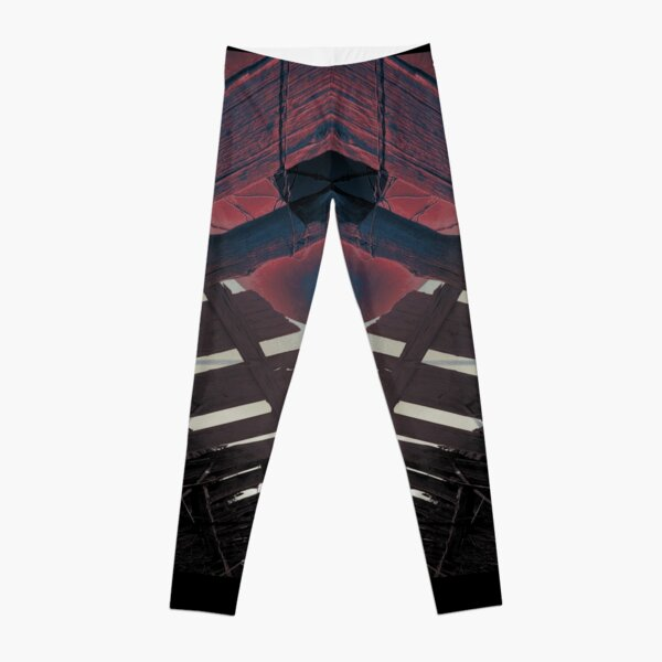Trippy Dystopian Abstract Photo Leggings