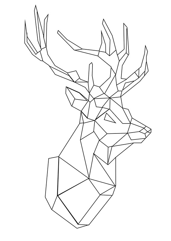geometric stag art prints by tongoose redbubble. Black Bedroom Furniture Sets. Home Design Ideas