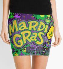 Mardi Gras Purple/Gold Collage Mini Skirt
