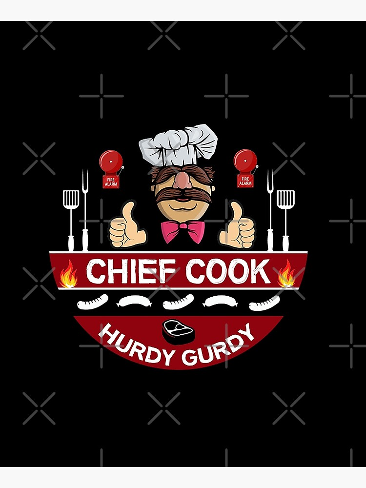 Hurdy Gurdy Bork Bork Cook - Bad Cook Apron Gifts - Lazy Cooks - Funny Swedish Chef by happygiftideas