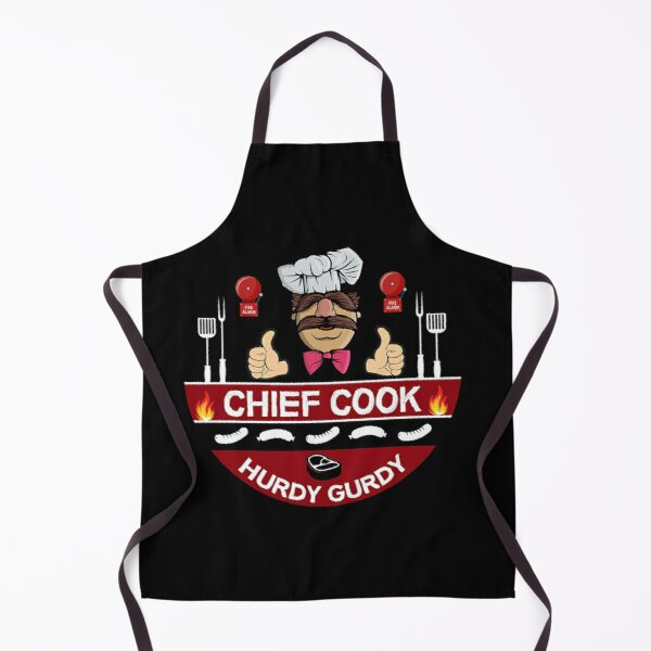 Hurdy Gurdy Bork Bork Cook - Bad Cook Apron Gifts - Lazy Cooks - Funny Swedish Chef Apron