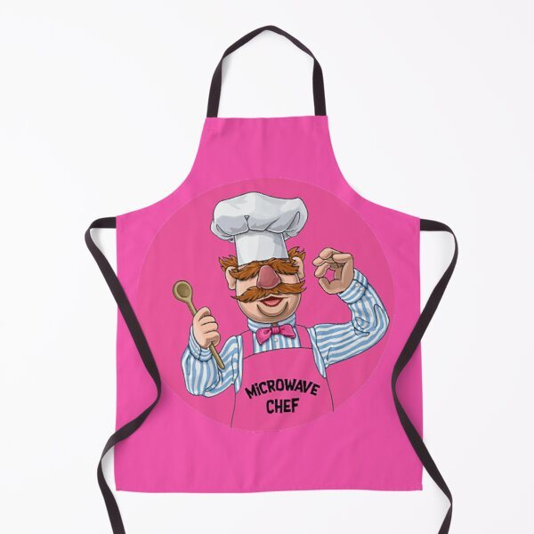 Hurdy Gurdy Bork Bork Microwave Chef - Bad Cook Gifts - Lazy Cooks - Funny Swedish Chef Apron