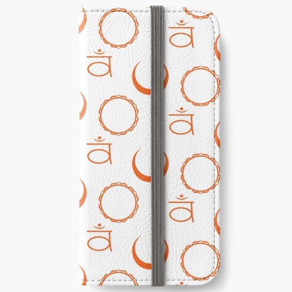Sacral Chakra Deconstructed Seamless Pattern iPhone Wallet