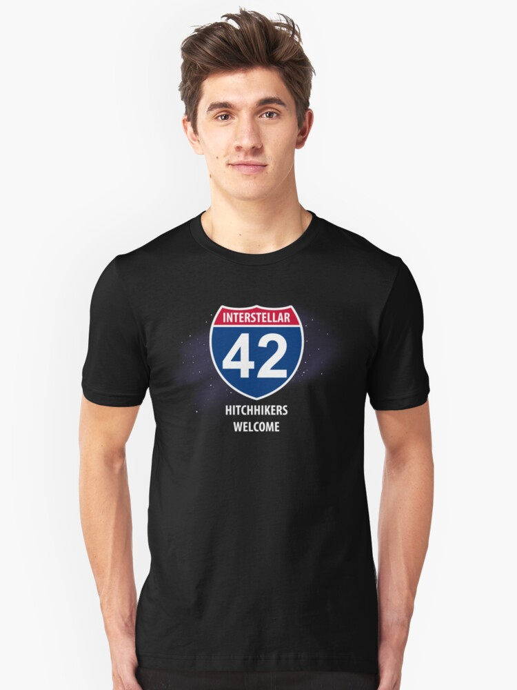 Hitchhikers Welcome Unisex T-Shirt Front