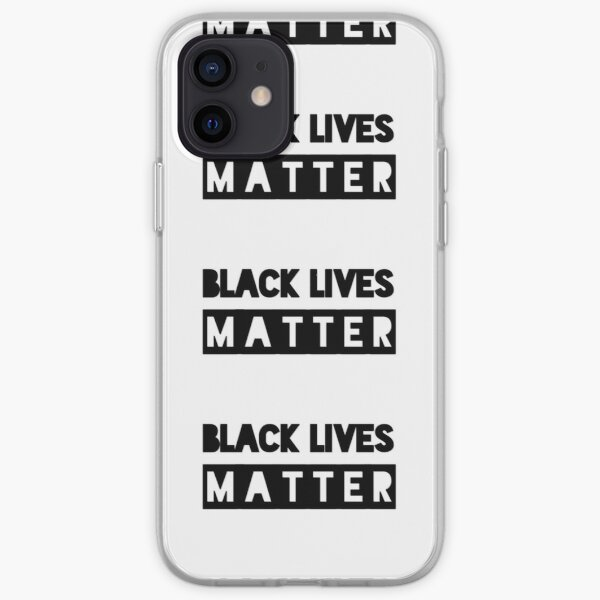 Black Lives Matter stop racism iPhone Soft Case