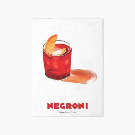 Negroni Cocktail Art Board Print