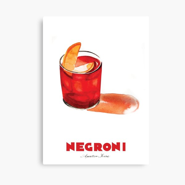Negroni Cocktail Canvas Print