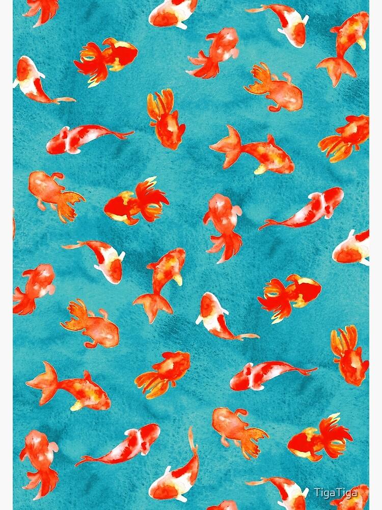 Watercolor Goldfish Pond  by TigaTiga
