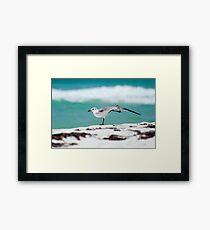 Beach Yoga - 1st Pose Framed Print