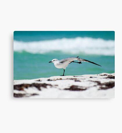 Beach Yoga - 1st Pose Canvas Print