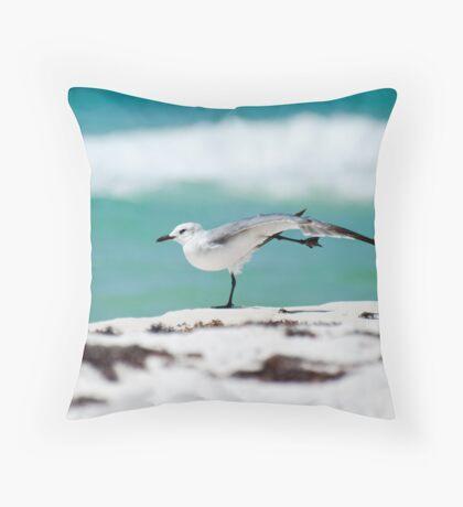 Beach Yoga - 1st Pose Throw Pillow