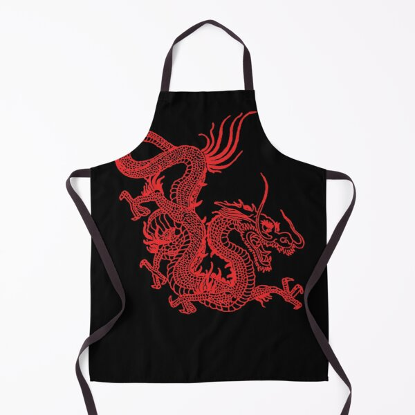 Red Chinese Dragon Apron