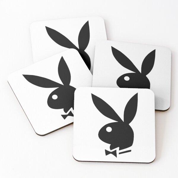 Playboy bunny logo Coasters (Set of 4)