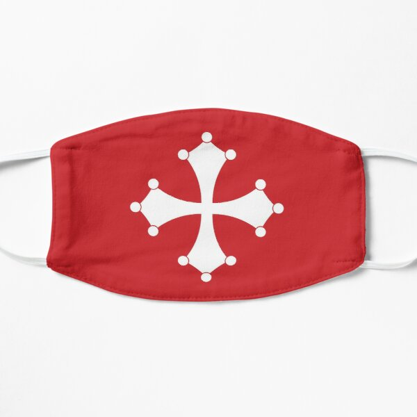 face mask with the flag of Pisa Flat Mask