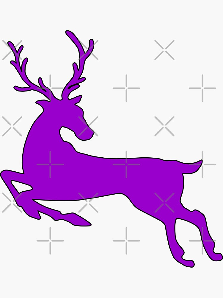 Purple Deer Stickers by carlarmes