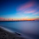 Frankston Pier Sunset Mornington Peninsula Long Exposure 2013 by Ben  Cadwallader