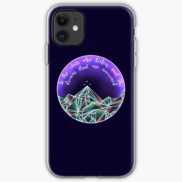to the stars who listen quote iPhone Soft Case
