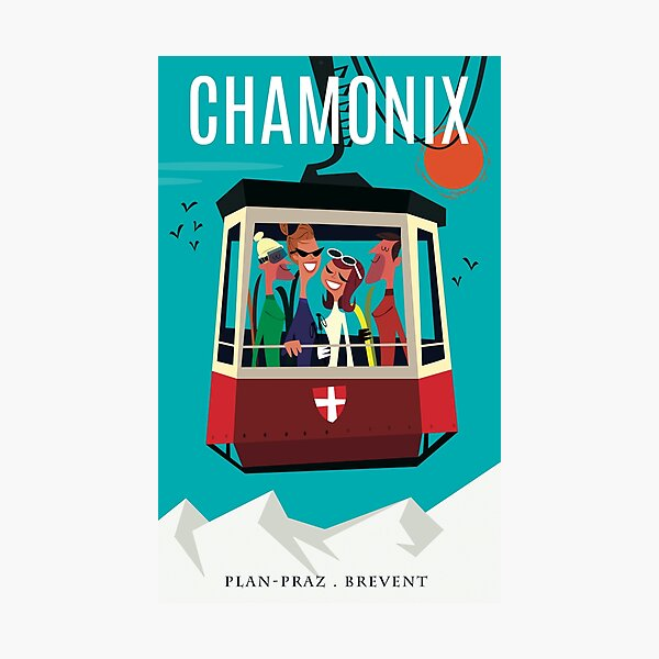 Chamonix poster Photographic Print