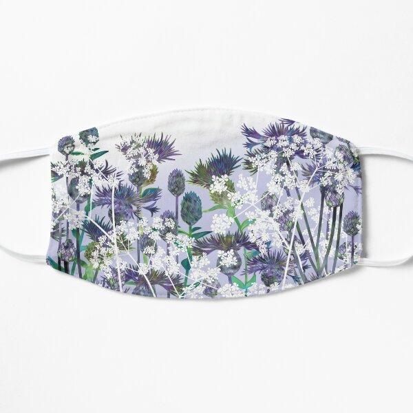 Blue Flowers, Centaurea, Knapweed & Cow Parsley Flat Mask