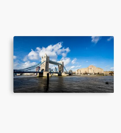 Tower Bridge in a sunny and cloudy day Canvas Print